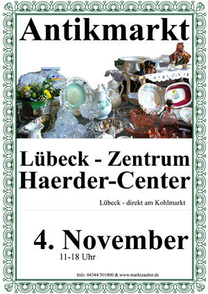 Antikmarkt im Haerder-Center in Lübeck