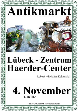 Antikmarkt im Haerder-Center in Lübeck