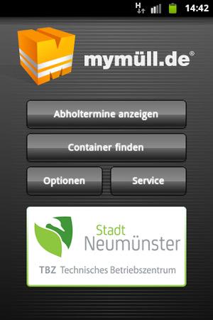 TBZ Neumünster führt eine Smartphone-App MyMüll.de ein