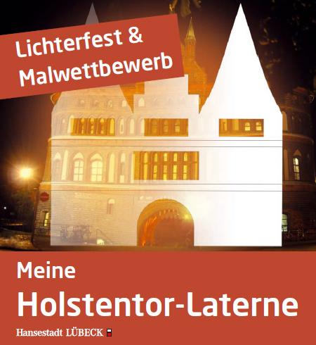 Lichterfest am Holstentor in Lübeck