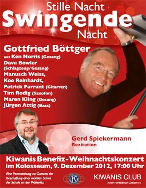 Kiwanis Benefizkonzert mit Gottfried Böttger im Kolosseum Lübeck