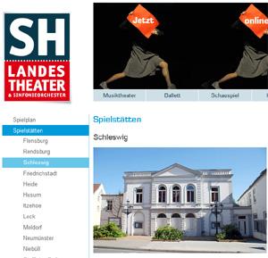 Standsicherheit des Theaters in Schleswig nicht gewährleistet