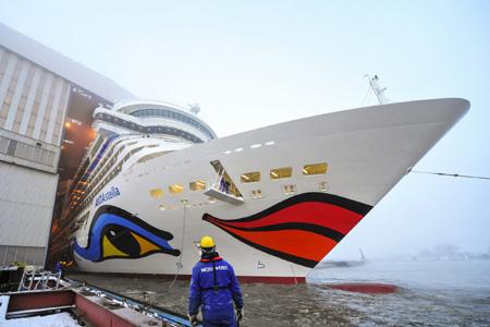 Schönes Schiff – AIDAstella erfolgreich ausgedockt