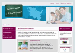 Internetauftritt Lehrer werden in Schleswig-Holstein wirbt für Lehrerberuf
