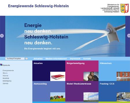 Neu im Internet: Schleswig-Holsteins zeigt uns die Energiewende