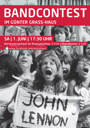 """Bandcontest """"SHINE ON!"""" im Lübecker Günter Grass-Haus"""