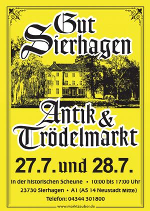 Erster Sommer-Antikmarkt auf Gut Sierhagen am 27. & 28. Juli