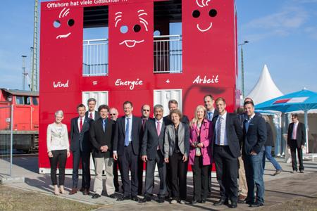 Aussichtsplattform Offshore-Windenergie wurde in  Bremerhaven eröffnet
