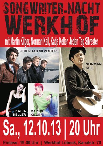 Spannende Songwriter-Nacht im Werkhof Lübeck