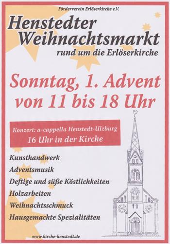 Großer Weihnachtsmarkt an der Erlöserkirche Henstedt