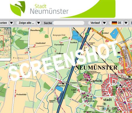 Neumünster – Schicker Online-Stadtplan mit vielen Extras