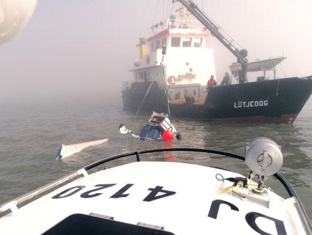 Sportflugzeug stürzt südlich Norderney ins Wattenmeer – Pilot tot geborgen