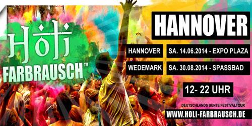 25.000 Besucher im Farbenrausch – Das größte Holi Festival Deutschlands in Hannover