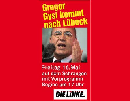 Europawahl – Gregor Gysi am 16.05. in Lübeck
