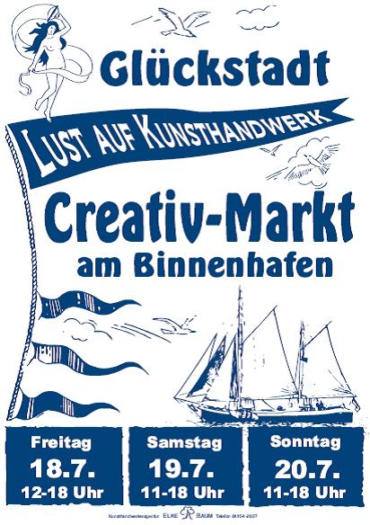 """""""Kunsthandwerkermarkt """"Lust auf Kunsthandwerk"""" am Binnenhafen in Glückstadt"""