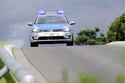 Neuer e-Golf* als Polizei-Einsatzfahrzeug demnächst auf der Insel Helgoland