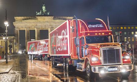 Auch 2014: Die Coca-Cola Weihnachtstrucks sind wieder unterwegs