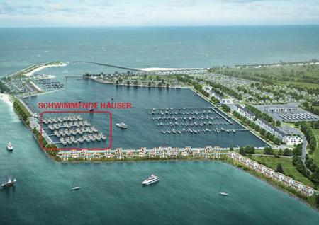 Schwimmende Ferienhäuser für Port Olpenitz
