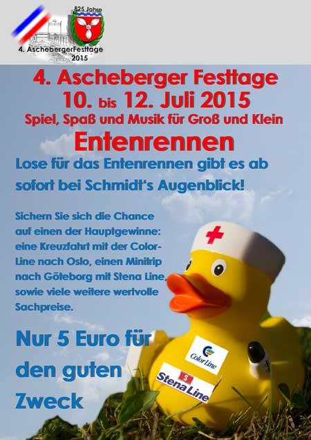 Die Ascheberg Rockt und lässt die Enten rennen! Enten sind wieder los!