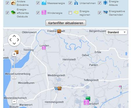 Dithmarschen – Per Klick zum Klimaschutz: Energiekarte online