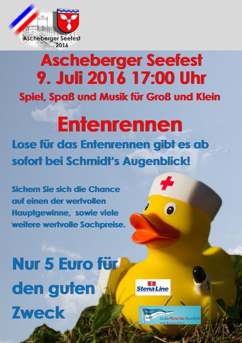 """Das """"Original Entenrennen"""" auf dem Großen Plöner See geht in Runde 5"""