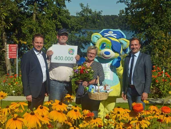 Endlich: Der 400. 000 Besucher kam zur Landesgartenschau