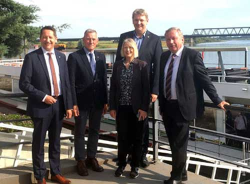 Lauenburger Erklärung: Region bekräftigt die Notwendigkeit zum Ausbau des Elbe-Lübeck-Kanals
