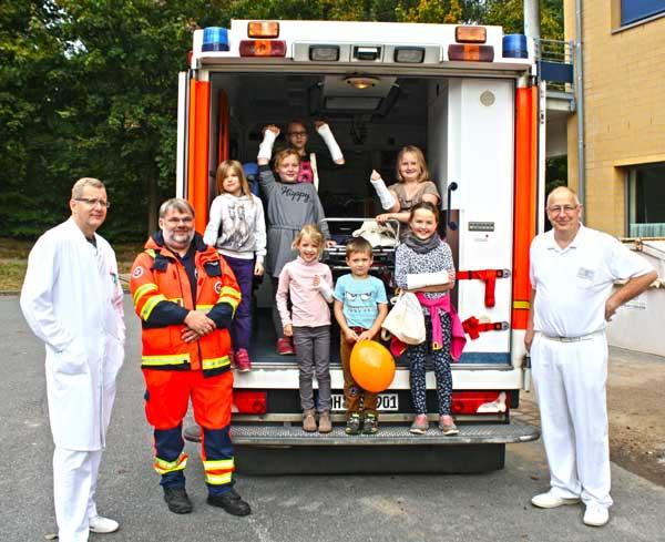 """Sana Klinik Eutin machte am 3. Oktober für rund 40 Kinder dir """"Türen auf!"""""""