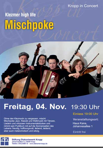 Kropp in Concert am 4. November