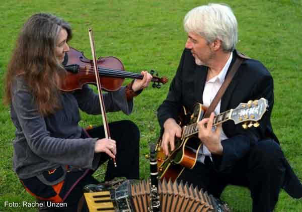 Klezmer und Tango mit dem Duo Zhok im Schloss Schönhagen