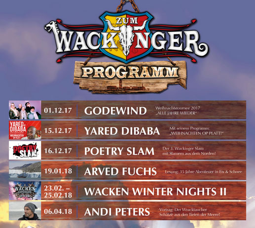 Wackinger Wacken: YARED DIBABA & DIE SCHLICKRUTSCHER UND ANDI PETERS