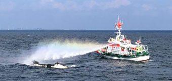 Motorboot auf der Ostsee ausgebrannt – Seenotretter bringen Besatzung in Sicherheit