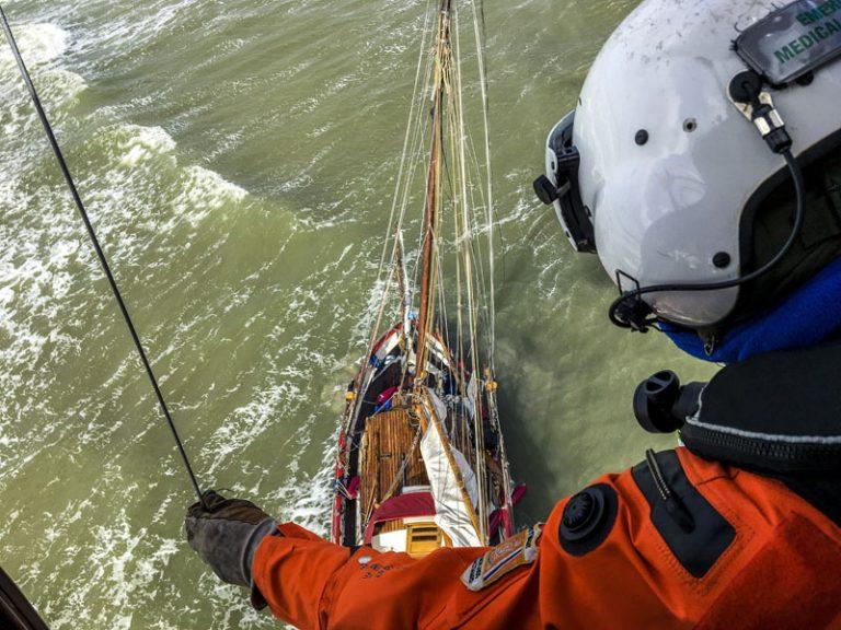 Scharhörnriff – Schiffbrüchiger von Hubschrauber gerettet