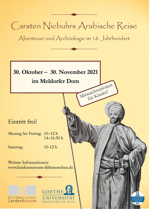 """Ausstellung im Meldorfer Dom: """"Carsten Niebuhrs Arabische Reise – Abenteuer und Archäologie im 18. Jahrhundert"""""""